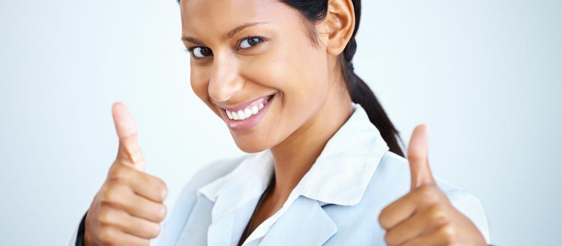 bigstock-Female-Executive-Giving-Thumbs-12542510